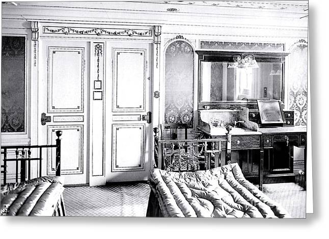 First Class Stateroom C65 On Titanic Greeting Card