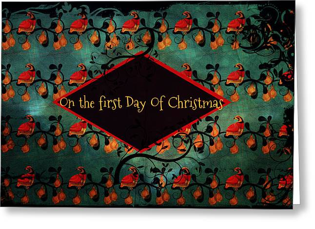 First Day Of Christmas Greeting Card