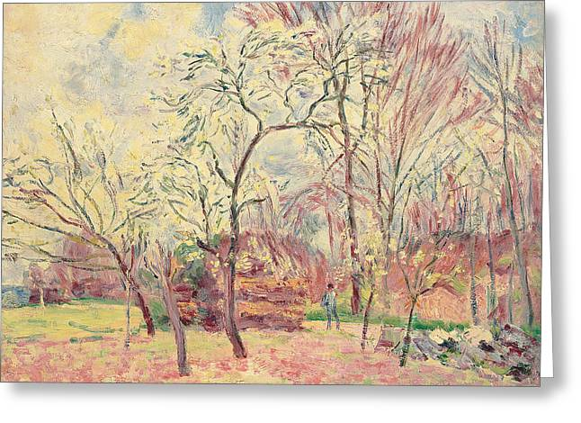 First Day Of Spring In Moret, 1889 Greeting Card by Alfred Sisley