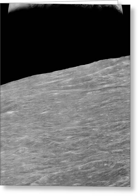 First Earthrise 1966 Greeting Card