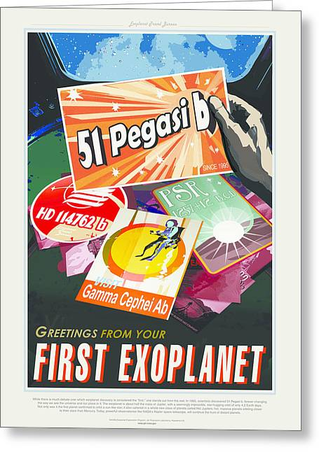First Exoplanet Greeting Card by MotionAge Designs