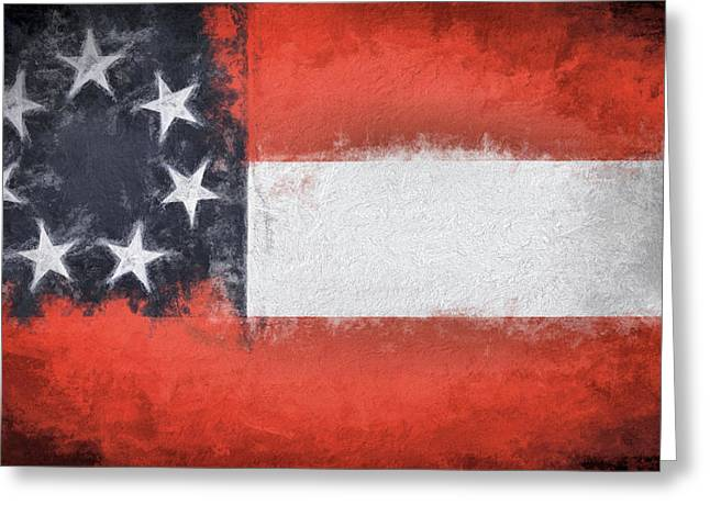 First Flag Of The Confederacy Greeting Card by JC Findley