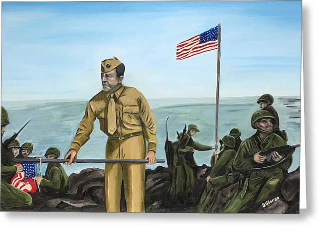 First Flag Raising Iwo Jima Greeting Card