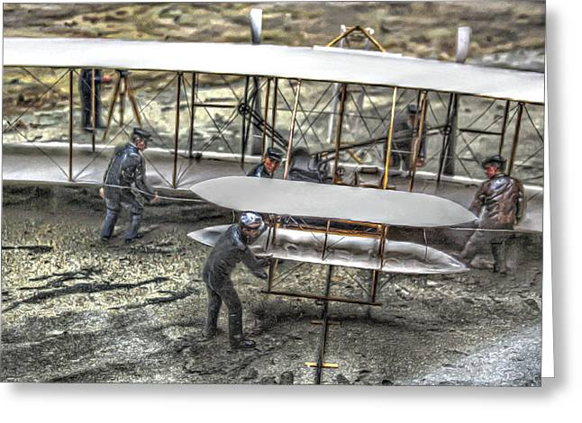 First Flight Wright Brothers Greeting Card by Randy Steele