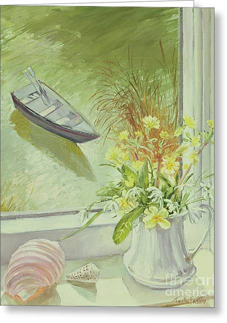First Flowers And Shells Greeting Card by Timothy Easton