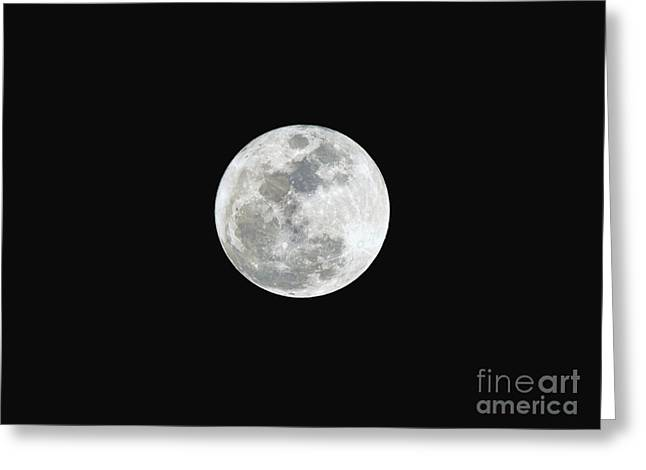 First Full Moon Of 2016 Greeting Card by Eddie Yerkish