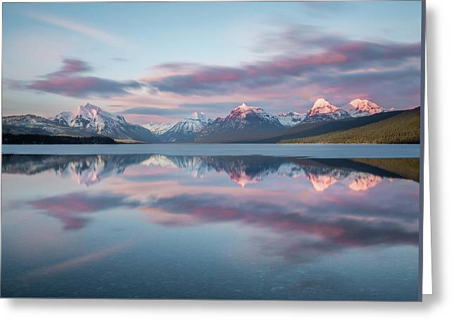 First Ice Off // Lake Mcdonald, Glacier National Park  Greeting Card