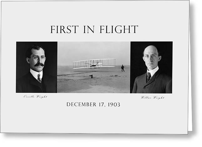 First In Flight - The Wright Brothers Greeting Card by War Is Hell Store