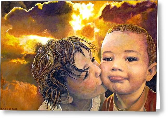 First Kiss Greeting Card by Michael Durst