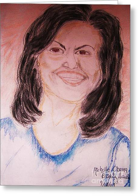 First Lady Greeting Card by Beverly Howell