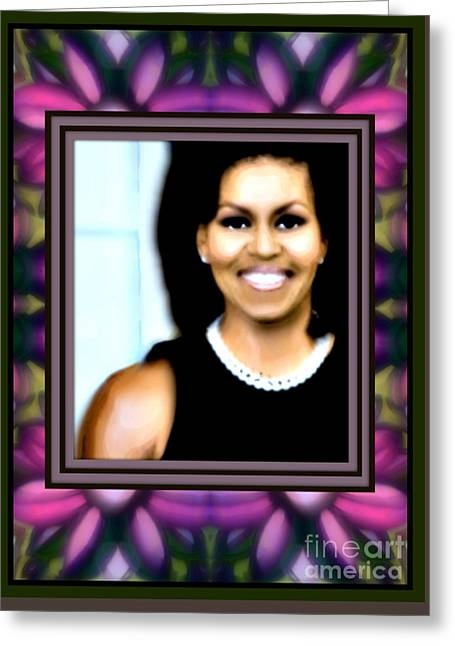 First Lady Michele Greeting Card by Wbk