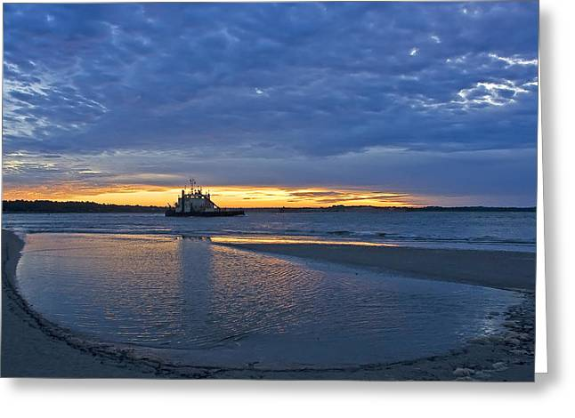 Greeting Card featuring the photograph First Light by Alan Raasch