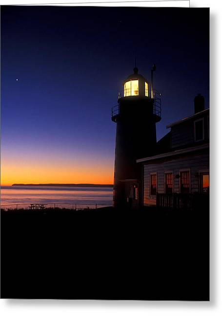 First Light At Quoddy Head Greeting Card by John Burk
