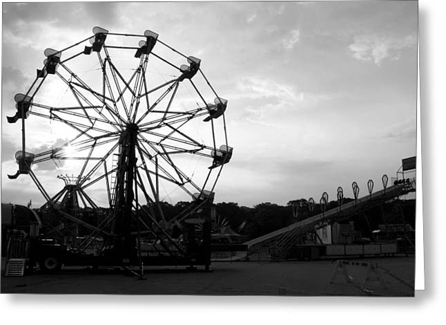 First Light At The Fair Greeting Card by Anne Babineau
