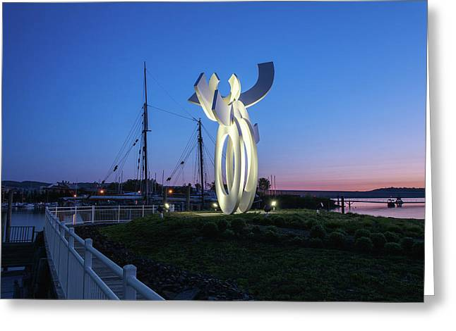 First Light At The Waterfront Greeting Card