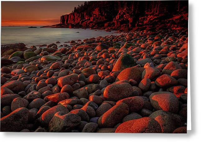 First Light On A Maine Coast Greeting Card