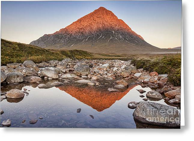 First Light On Buachaille Etive Mor Greeting Card