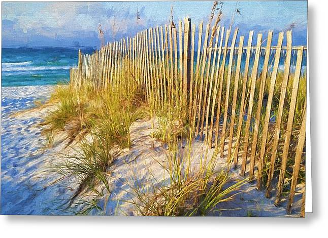 First Light On Navarre Beach Greeting Card by JC Findley