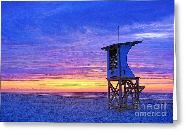First Light On The Beach Greeting Card