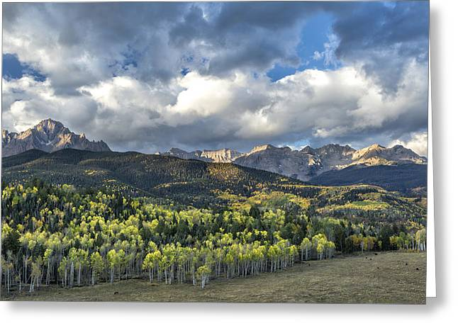 First Light On The Sneffels Range Greeting Card