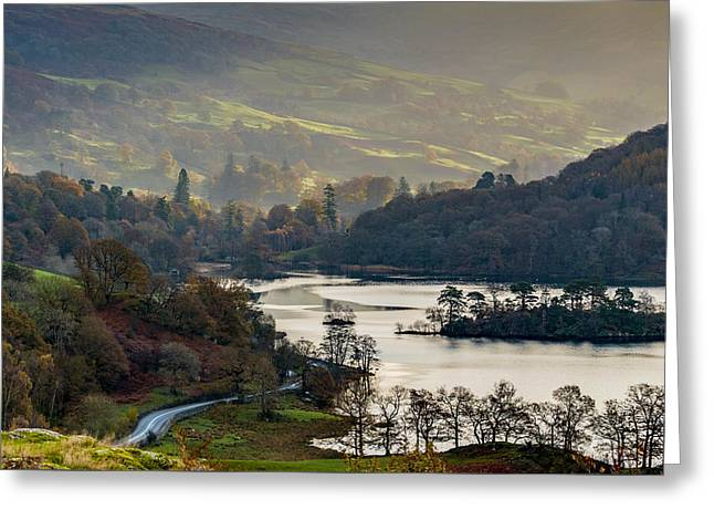 First Light Over Rydal Water In The Lake District Greeting Card