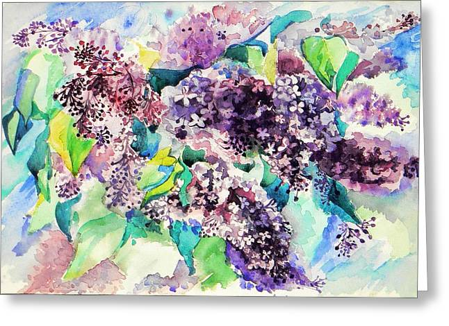 First Lilac. Greeting Card by Anastasia Michaels