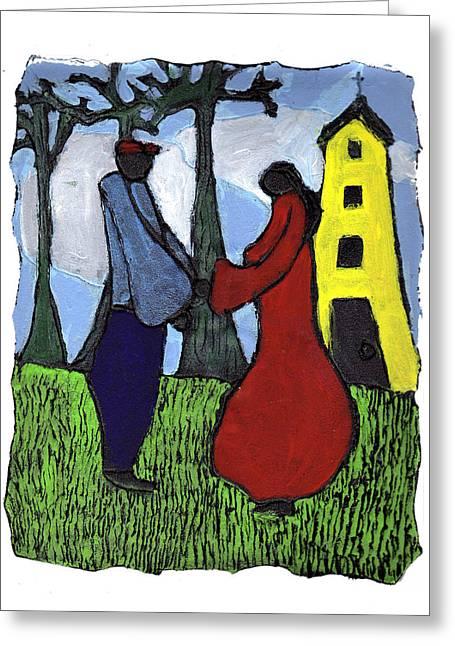 First Love Greeting Card by Wayne Potrafka