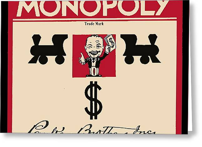 First Monopoly Cover Greeting Card