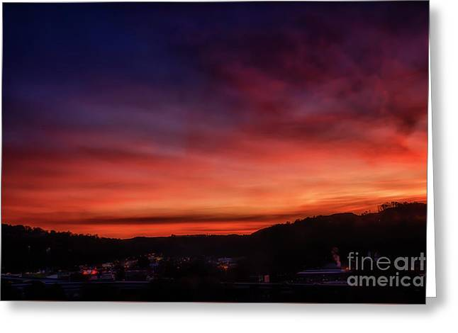 First Morning Light Over Charleston Greeting Card
