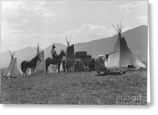 First Nations Camp, C.1930s Greeting Card by H. Armstrong Roberts/ClassicStock