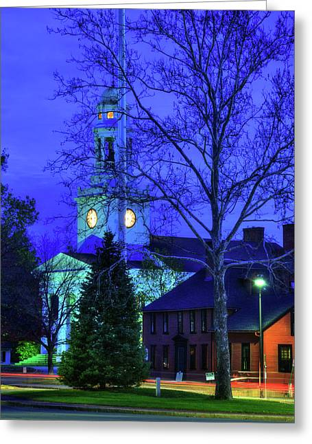 First Parish Church - Concord Ma Greeting Card by Joann Vitali