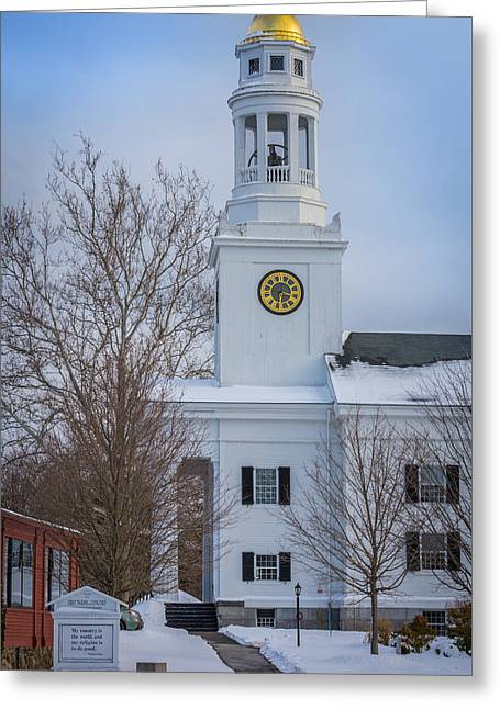 First Parish In Concord, Massachusetts Greeting Card