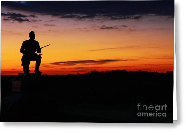First Pennsylvania Cavalry Sunrise Gettysburg Greeting Card