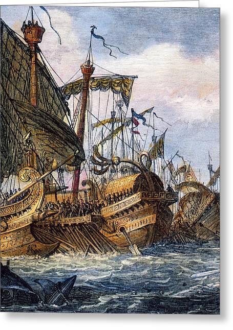 First Punic War Battle Greeting Card by Granger