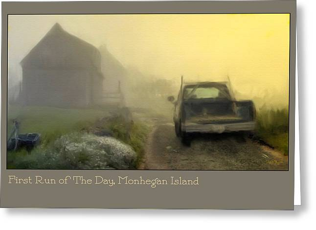 First Run Of The Day, Monhegan Island  Greeting Card by Dave Higgins