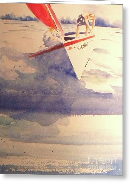First Sailing Lesson Greeting Card by Jill Morris