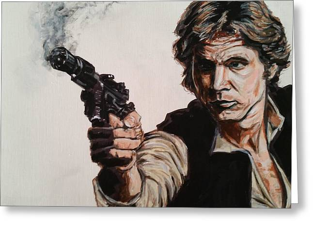 First Shot - Han Solo Greeting Card