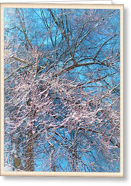 First Snow At Dawn Greeting Card