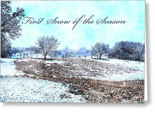 First Snow Card Greeting Card
