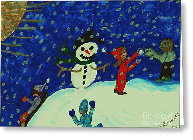 First Snow Of The Season Greeting Card