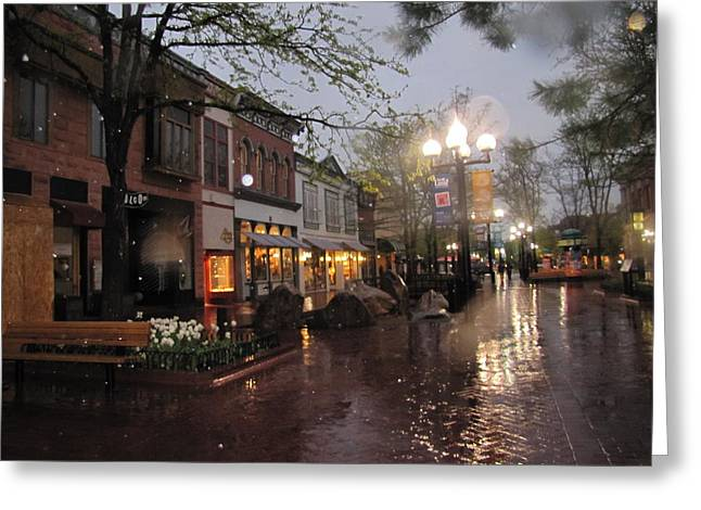 First Snow Of The Year Boulder Colorado Greeting Card by Shawn Hughes