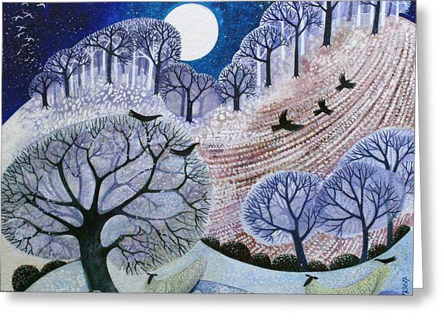 First Snow Surrey Hills Greeting Card by Lisa Graa Jensen