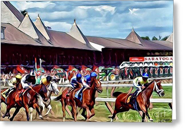 First Turn Saratoga Greeting Card