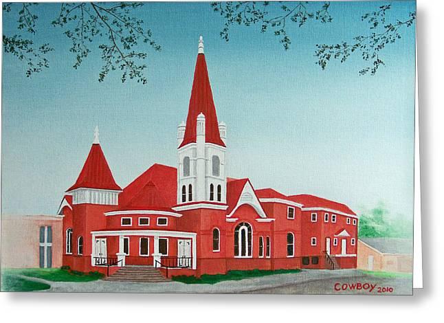 First United Methodist Church  Terrell Tx Greeting Card by Darren Yarborough