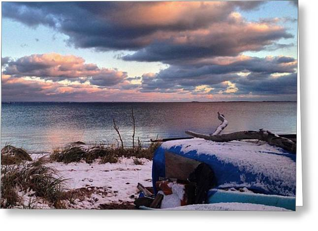 #firstsnow #provincetown Greeting Card by Ben Berry