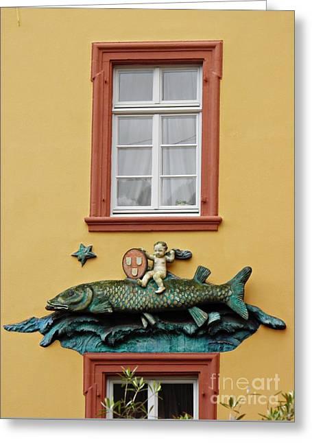 Fish And Baby Greeting Card