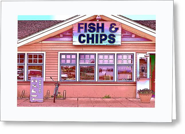 Fish And Chips Greeting Card by Allen Beatty