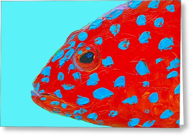 Fish Art - Strawberry Grouper Greeting Card by Jan Matson