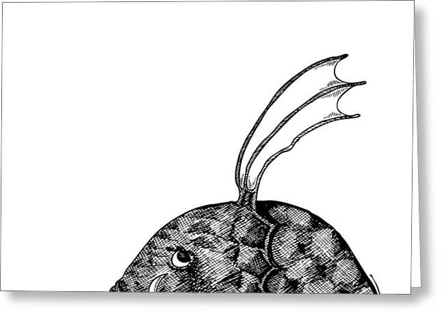 Fish Beast Greeting Card by Karl Addison