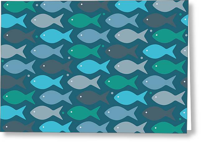 Fish Blue  Greeting Card